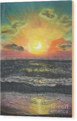 Sunset Wood Print by Victor Berelovich