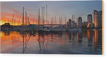 Wood Print featuring the photograph Sunset View From Charleson Park In Vancouver Bc by JPLDesigns