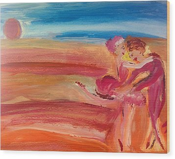 Sunset Waltz Wood Print by Judith Desrosiers