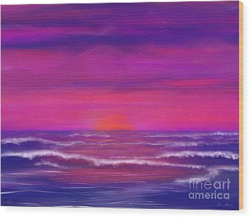 Sunset Winds Wood Print by Roxy Riou