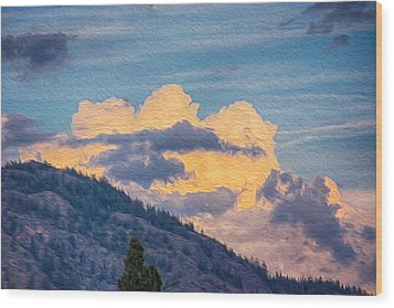 Sunset With A Smile Wood Print by Omaste Witkowski