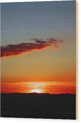 Sunset With Lines Wood Print by Dorothy Berry-Lound