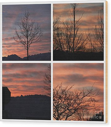 Sunsets Come In Many Colors  Wood Print