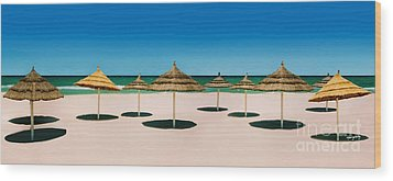 Sunshade Island Wood Print