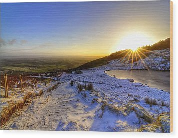 Sunshine And Snow Wood Print