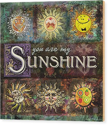 Sunshine Wood Print by Evie Cook