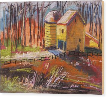 Sunshine Farm Wood Print by John Williams
