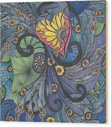 Sunshine In My Heart Tangle Wood Print