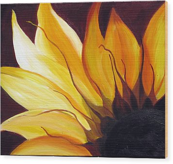 Wood Print featuring the painting Sunshine by Sheri  Chakamian