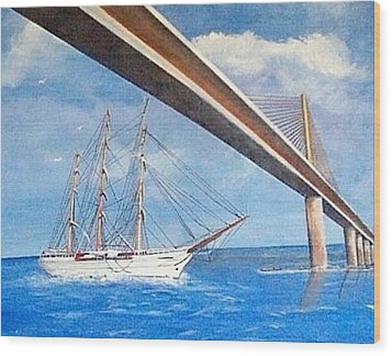 Sunshine Skyway Bridge  Wood Print