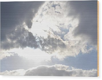 Wood Print featuring the photograph Sunshine Through The Clouds by Tara Potts