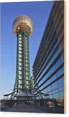 Sunsphere And Conference Center Wood Print