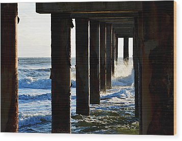 Sunwash At St. Johns Pier Wood Print
