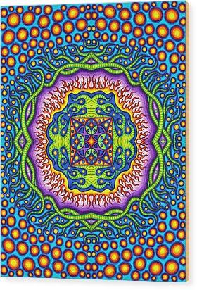 Super Cell Symmetry Wood Print by Matt Molloy