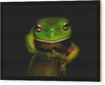Super Frog 01 Wood Print