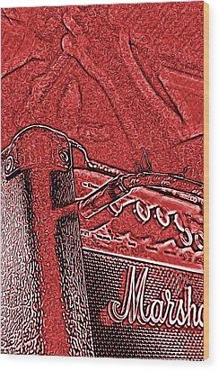 Super Grainy Marshall Wood Print by Bartz Johnson