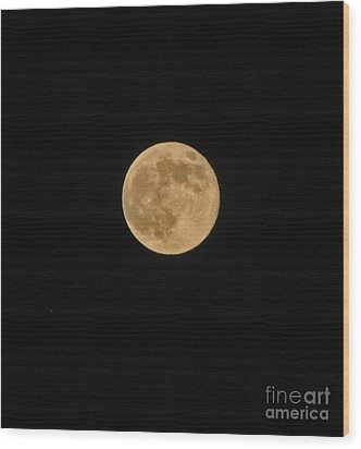 Super Moon 8 10 14 Wood Print