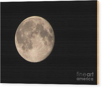 Wood Print featuring the photograph Super Moon by David Millenheft