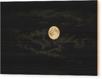 Super Moon Wood Print by Spikey Mouse Photography