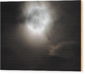 Super Moon Sunday Wood Print