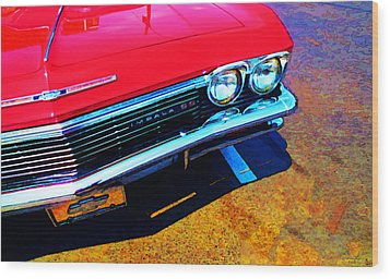 Super Sport 3 - Chevy Impala Classic Car Wood Print by Sharon Cummings