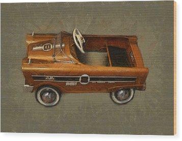 Super Sport Pedal Car Wood Print by Michelle Calkins