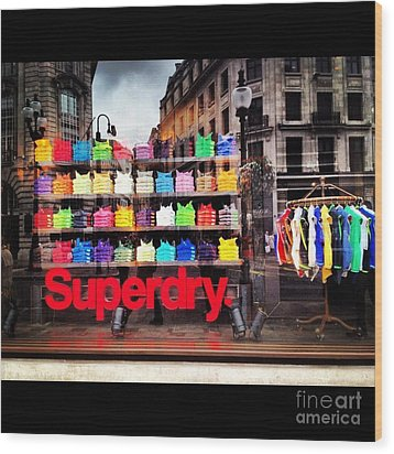 Superdry. Wood Print by Carly Athan