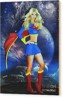 Supergirl Wood Print
