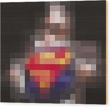 Superman Wood Print by Tony Rubino