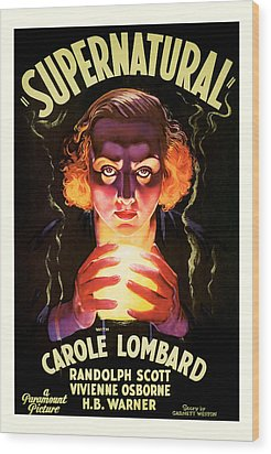 Supernatural 1933 Wood Print by Presented By American Classic Art
