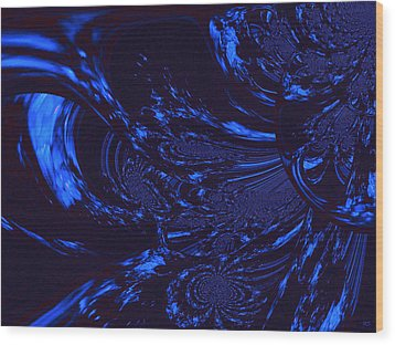 Supernatural Water Element Wood Print