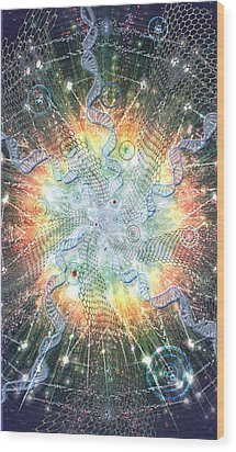 Supernova - Artwork From The Science Tarot Wood Print