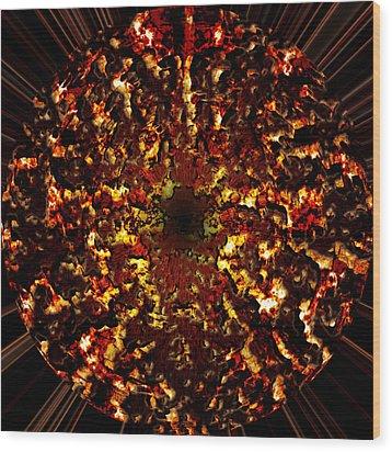 Supernova Wood Print by Christopher Gaston