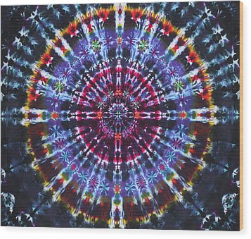 Supernova Wood Print by Courtenay Pollock