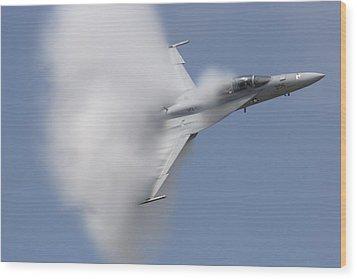 Supersonic Super Hornet Wood Print by John Clark