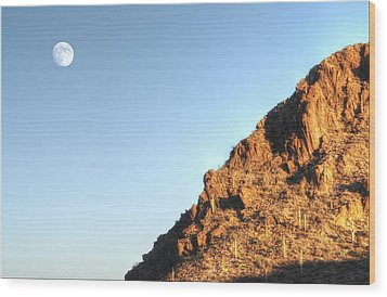 Wood Print featuring the photograph Superstition Mountain by Lynn Geoffroy