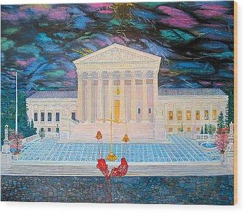 Supreme Court Wood Print by Mike De Lorenzo