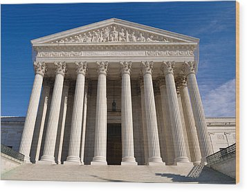 Supreme Court Of United States Of America Wood Print