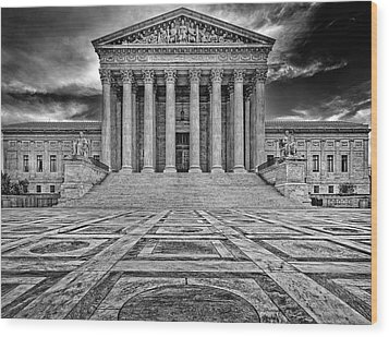 Wood Print featuring the photograph Supreme Court by Peter Lakomy
