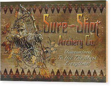 Sure Shot Archery Wood Print by JQ Licensing