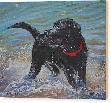 Surf Pup Wood Print