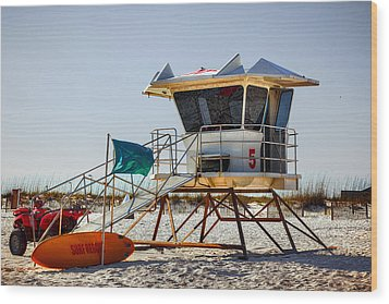 Surf Rescue Wood Print by Sennie Pierson