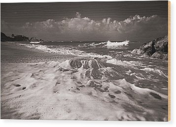 Surf Wood Print by Sergey Simanovsky