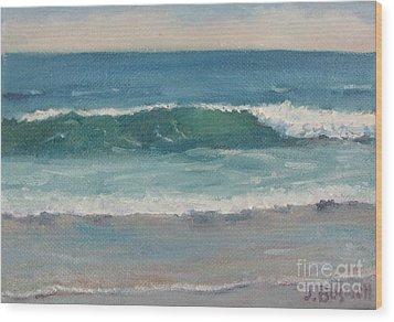 Surf Series 5 Wood Print by Jennifer Boswell