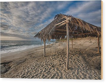 Surf Shack Wood Print by Peter Tellone