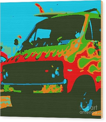 Surf Wagon Wood Print by James Eye
