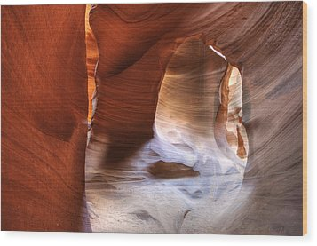 Surfaces Of Antelope Canyon Wood Print by Darlene Bushue