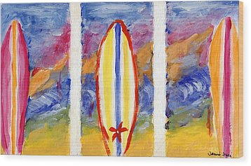 Surfboards 1 Wood Print by Jamie Frier