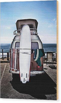 Surfer Wood Print by James David Phenicie