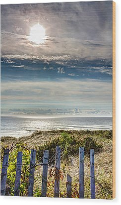 Surfers At Coast Guard Beach Wood Print